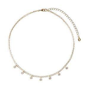 Chloe + Isabel Jewelry - Petits Bijoux Station Crystal Choker Necklace 💎